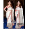 Bollywood Replica - Tamanna Bhatia Designer White Rose Saree - SN-515