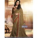 Bollywood Replica - Tamanna Bhatia In Satin Chiffon Saree - SN-512