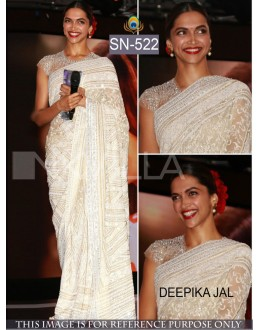 Bollywood Replica - Deepika Padukone In Designer Cream Saree - SN-522