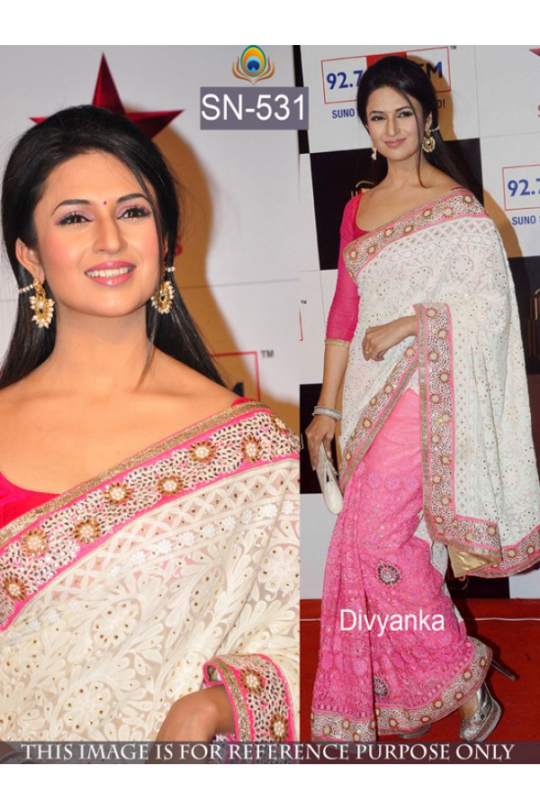 Bollywood Replica - Divyanka Tripathi Designer PInk Saree - SN-531