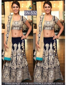 Bollywood Replica - Bridal Dark Blue Lehenga Choli - SN-532
