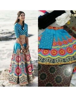 Bollywood Replica - Designer Blue Banglori Silk Lehenga Choli - VT-1002