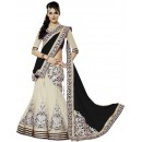 Wedding Wear Cream & Black Lehenga Choli - 202