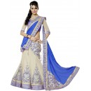 Wedding Wear Cream & Blue Lehenga Choli - 203