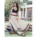 Wedding Wear White & Blue Lehenga Choli - 227