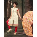 Ethnic Wear Off White Chanderi Cotton Salwar Suit  - 10326
