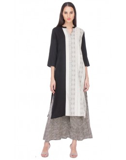 Casual Wear Readymade Black & White Kurti - 97K234