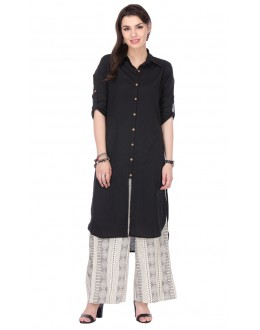 Ethnic Wear Readymade Black Rayon Kurti - 97K235
