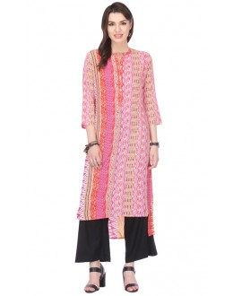 Casual Wear Readymade Multi-Colour Rayon Kurti - 97K239