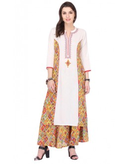 Ethnic Wear Readymade Off White Kurti - 97K242