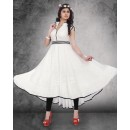 Party Wear Readymade Off White Kurti - 14301