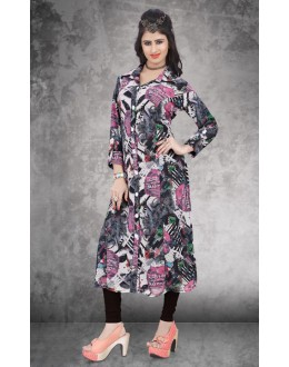 Office Wear Readymade Multi-Colour Georgette Kurti - 14302