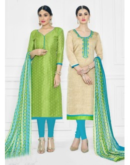 Salwar Suit With Two Top With One Bottom And One Duppatta - 15007