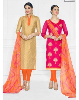 Salwar Suit With Two Top With One Bottom And One Duppatta - 15012