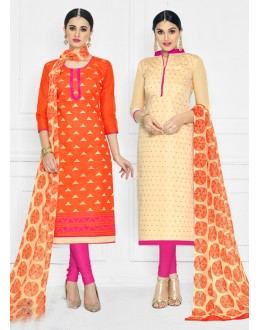 Salwar Suit With Two Top With One Bottom And One Duppatta - 15015