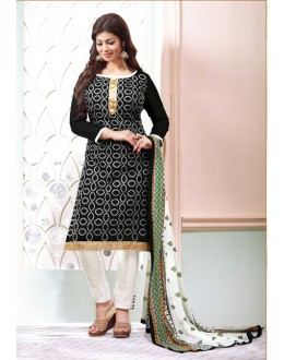 Ayesha Takia In Black Chanderi Salwar Suit - 15067
