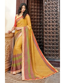 Ethnic Wear Multi-Colour Georgette Saree - 15297