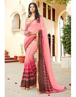 Festival Wear Multi-Colour Georgette Saree - 15298
