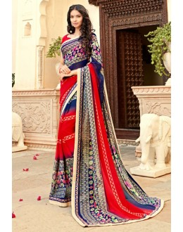 Party Wear Multi-Colour Georgette Saree - 15300