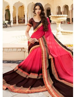 Party Wear Multi-Colour Georgette Saree - 15302