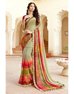 Ethnic Wear Multi-Colour Georgette Saree - 15307