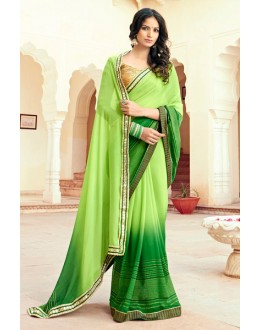 Georgette Multi-Colour Printed Saree - 15308