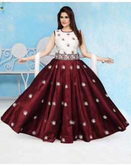 Wedding Wear Readymade Chanderi Lehenga Choli - 15652
