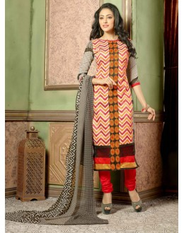 Office Wear Multi-Colour Chanderi Salwar Suit - 15745
