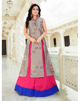 Festival Wear Readymade Grey Indo Western Suit - 15769