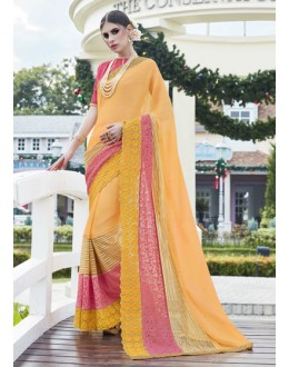 Festival Wear Multi-Colour Soft Chiffon Saree - 15781