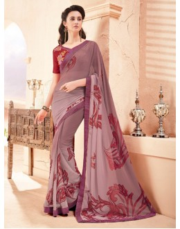 Ethnic Wear Multi-Colour Pure Georgette Saree  - 15790