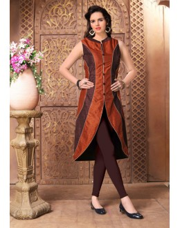 Ethnic Wear Readymade Brown Kurti - 15849