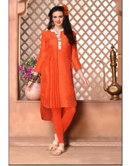 Ethnic Wear Readymade Orange Kurti - 15852