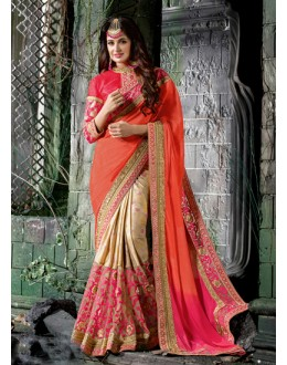 Multi-Colour Half & Half Ethnic Saree  - 16213