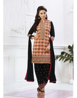 Multi-Colour Cotton Embroidery Patiyala Suit - 16319