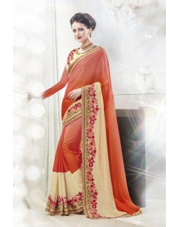 Multi-Colour Georgette Designer Saree  - 16336