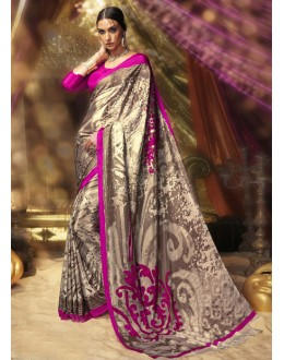 Festival Wear Brown Crepe Silk Saree  - 16383