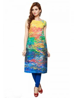 Office Wear Readymade Poly Cotton Kurti - 16431