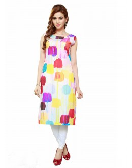 Casual Wear Readymade Poly Cotton Kurti - 16433