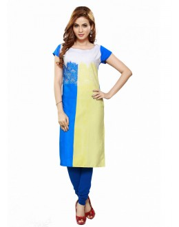 Office Wear Readymade Poly Cotton Kurti - 16435