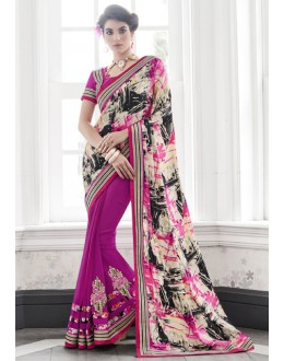 Ethnic Wear Multi-Colour Georgette Saree  - 16436