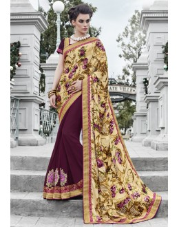 Ethnic Wear Multi-Colour Georgette Saree  - 16443