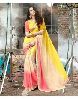 Ethnic Wear Multi-Colour Georgette Saree  - 16483