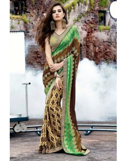 Ethnic Wear Multi-Colour Georgette Saree  - 16488
