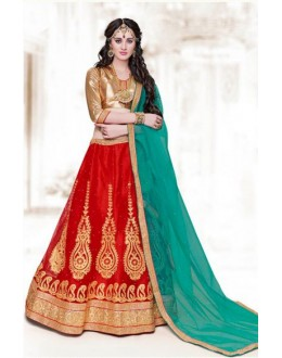 Traditional Red Net Lehenga Choli - 16509