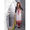 Ethnic Wear Off White Glaze Cotton Salwar Suit - 16544