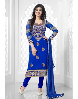 Blue Colour Georgette Designer Salwar Suit - 16551