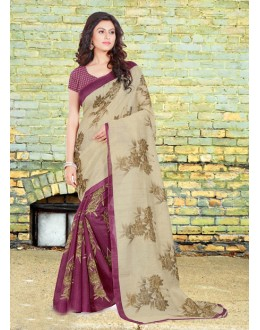 Ethnic Wear Bhagalpuri Half & Half Saree  - 16582