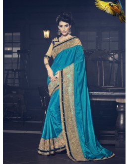 Festival Wear Sky Blue Saree  - 16620