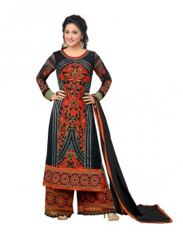 Hina Khan In Multi-Colour Georgette Palazzo Suit  - 16739